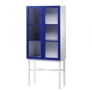 A2 Display Kaappi Valkoinen / Sininen