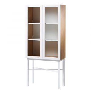 A2 Display Kaappi Valkoinen / Tammi