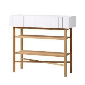 A2 White Sivupöytä Valkoinen / Tammi
