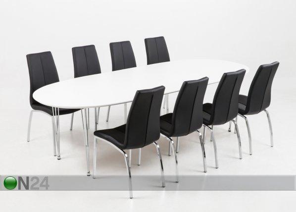 Actona Jatkettava Ruokapöytä Carina 100x170-270 Cm