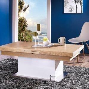 Adesign Säädettävä Sohvapöytä/Ruokapöytä 70x125-150 Cm