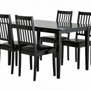 Alice Pöytä 140 Musta + 4 Setar Tuolia Musta