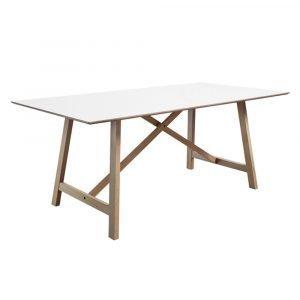 Andersen T6 Pöytä Tammi / Valkoinen Laminaatti 90x180 Cm