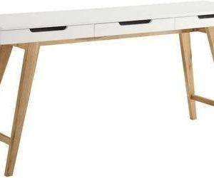 Apupöytä Olavi 160x40x75 cm 3 laatikkoa valkoinen/puu