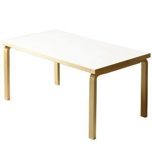 Artek Aalto Pöytä 82b Valkoinen Laminaatti