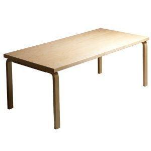 Artek Aalto Pöytä 83 Musta Linoleumi