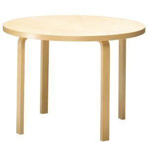 Artek Aalto Pöytä 90a Musta Linoleumi