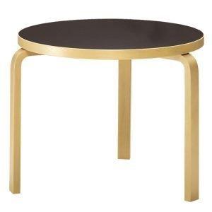 Artek Aalto Pöytä 90b Musta Linoleumi