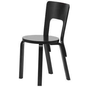 Artek Aalto Tuoli 66 Maalattu Musta