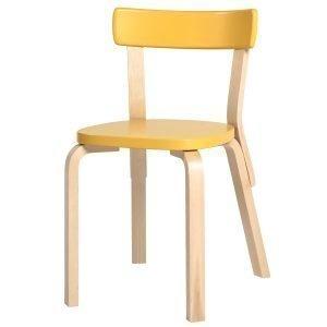 Artek Aalto Tuoli 69 Keltainen
