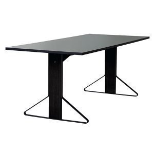 Artek Reb 001 Kaari Pöytä Harmaa Linoleum / Musta Tammi