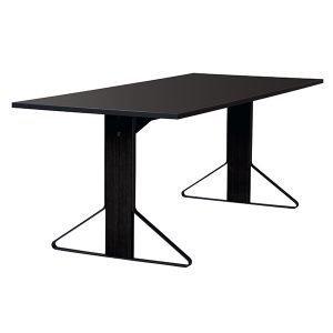 Artek Reb 001 Kaari Pöytä Musta Linoleum / Musta Tammi