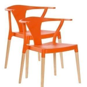 Båstad Tuolit 2-Pakkaus Oranssi