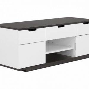 Bari TV-Taso 120 Valkoinen/Musta