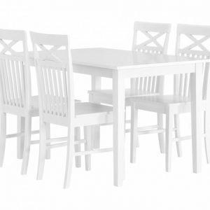 Barrington Pöytä 120 + 4 Solliden Tuoli Valkoinen