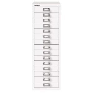 Bisley Laatikosto 15 Laatikkoa Valkoinen