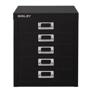 Bisley Laatikosto 5 Laatikkoa Musta