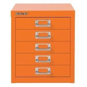 Bisley Laatikosto 5 Laatikkoa Oranssi
