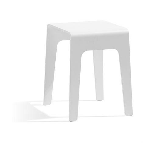 Blå Station Bimbord Pöytä Pieni Valkoiseksi Lakattu Koivu
