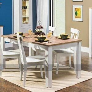 Bogfran Jatkettava Ruokapöytä 90x160-200 Cm