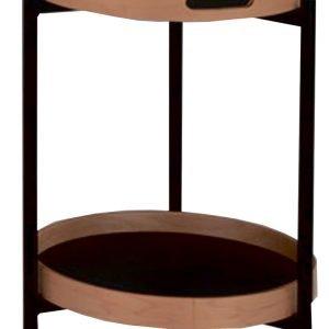 Bronnesund 2 Tarjoiluvaunu / Pöytä Musta / Luonnonväri