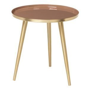 Broste Copenhagen Jelva Pöytä Brass / Indian Tan 35 Cm