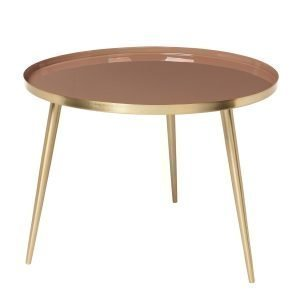 Broste Copenhagen Jelva Pöytä Brass / Indian Tan 57 Cm
