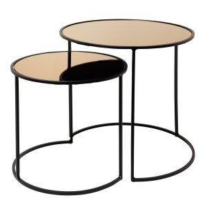 Broste Copenhagen Stends Pöytä Musta / Ruskea 2-Pakkaus