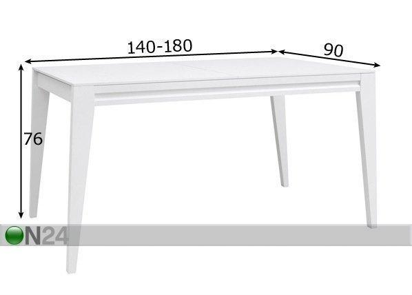 Brw Jatkettava Ruokapöytä 90x140-180 Cm