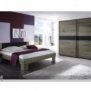 Brw Sänky 160x200 Cm Vaatekaappi 2 Yöpöytää