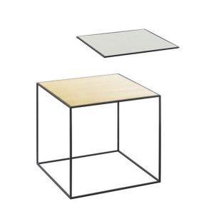 By Lassen Twin Table 35 Sivupöytä Misty Green / Messinki