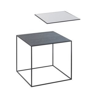 By Lassen Twin Table 35 Sivupöytä Musta / Cool Grey