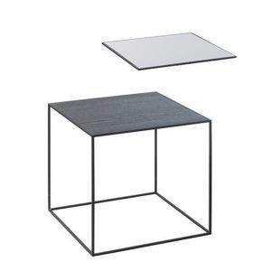 By Lassen Twin Table 35 Sivupöytä Musta / Cool Grey