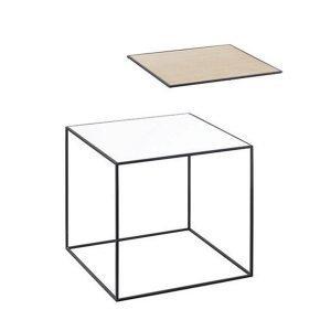 By Lassen Twin Table 35 Sivupöytä Valkoinen / Tammi