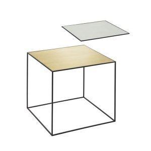 By Lassen Twin Table 42 Sivupöytä Misty Green / Messinki