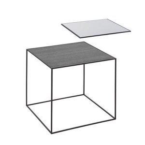 By Lassen Twin Table 42 Sivupöytä Musta / Cool Grey