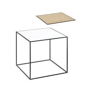 By Lassen Twin Table 42 Sivupöytä Valkoinen / Tammi