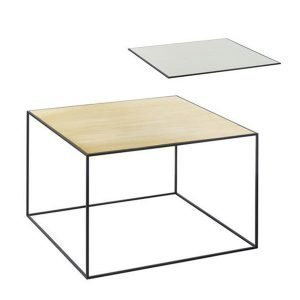 By Lassen Twin Table 49 Sivupöytä Misty Green / Messinki