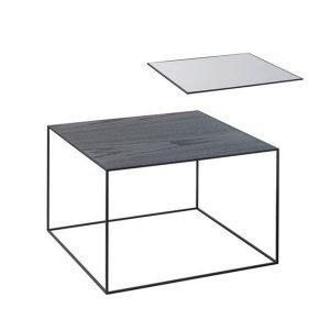 By Lassen Twin Table 49 Sivupöytä Musta / Cool Grey