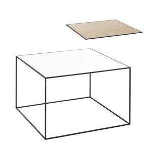 By Lassen Twin Table 49 Sivupöytä Valkoinen / Tammi