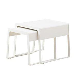 Cane Line Chill Out Sivupöytä Large+ Small Valkoinen