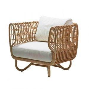 Cane Line Nest Istuintyynysetti Nojatuolille Valkoinen