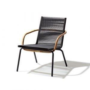 Cane Line Sidd Lounge Tuoli Musta