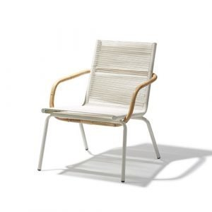 Cane Line Sidd Lounge Tuoli Valkoinen