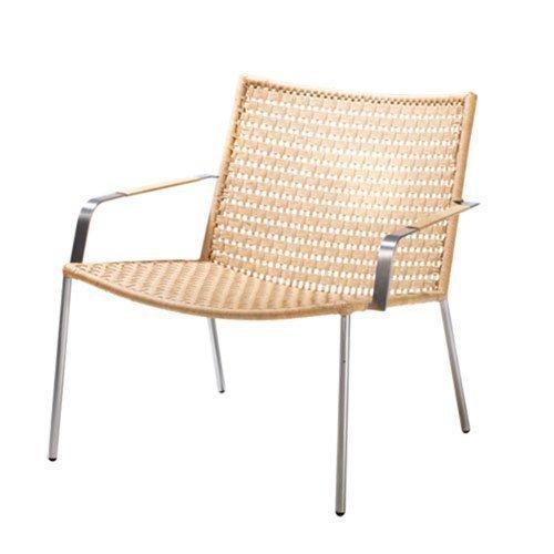 Cane Line Straw Lounge Tuoli Käsinojallinen Luonnonväri