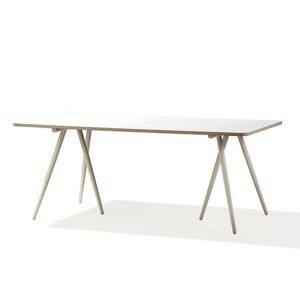 Cane Line Turn Ruokapöytä Valkoinen 90x180 Cm