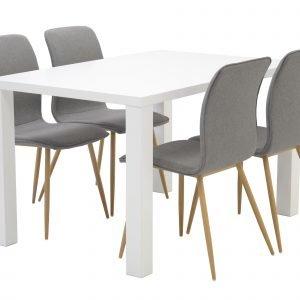 Carla Ruokapöytä Luis Tuoleilla Pöytä Ja 4 Tuolia
