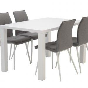 Carla Ruokaryhmä Pöytä Ja 4 Tuolia