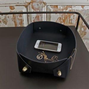 Caroline Ek Coco Big Box Säilytyskori Black Brass