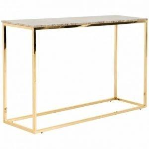 Carrie Apupöytä 120 Beige/Messinki